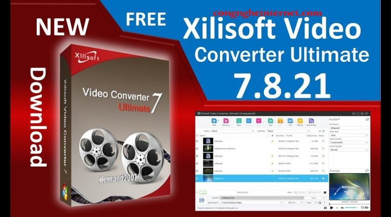 Xilisoft Video Converter 7.8