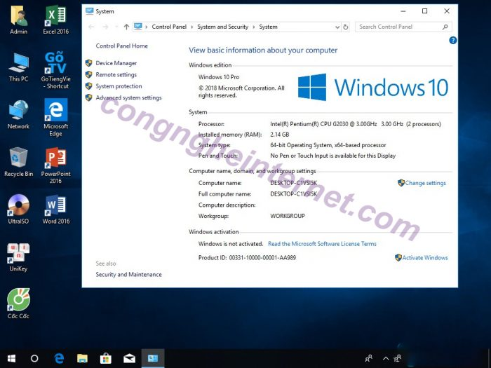 Ghost win 10 Pro Rs4 build 1803.17133.1