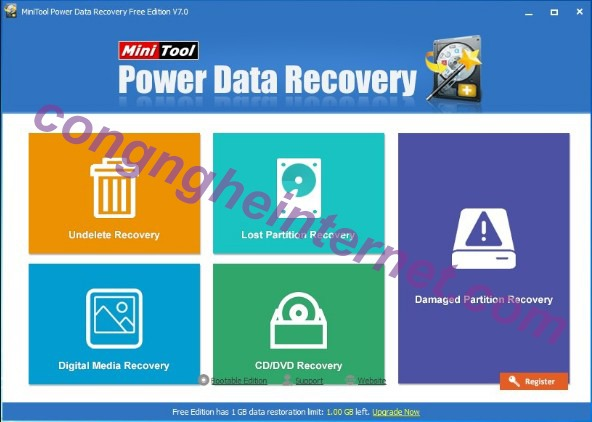 Download MiniTool Power Data Recovery 8.5 Mới Nhất